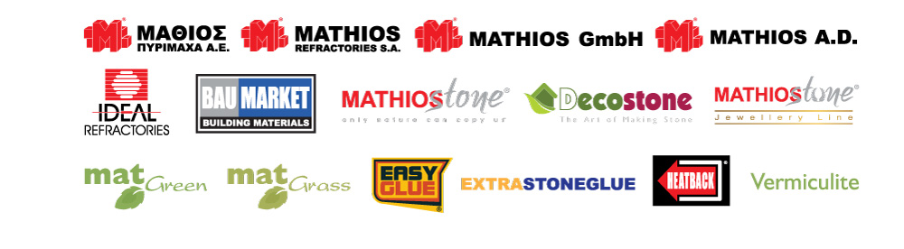 Brands of Mathios Refractories Group of Companies